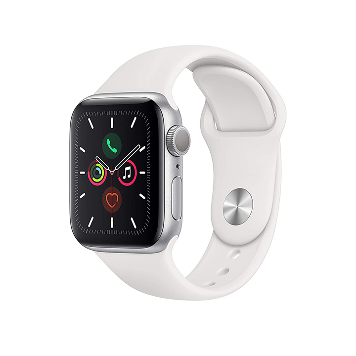 apple watch series 5 (gps 40mm) - silver aluminium case with white sport band