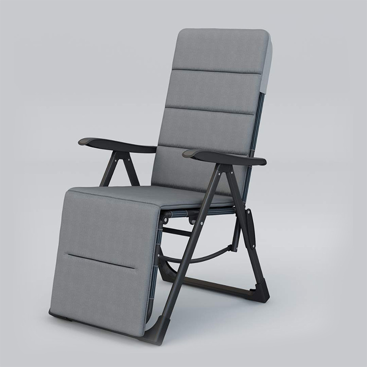 equal folding steel recliner chair