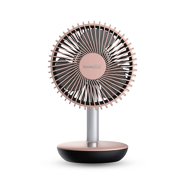 Geek Aire, 6 Inch Rechargeable Oscillating Table Fan