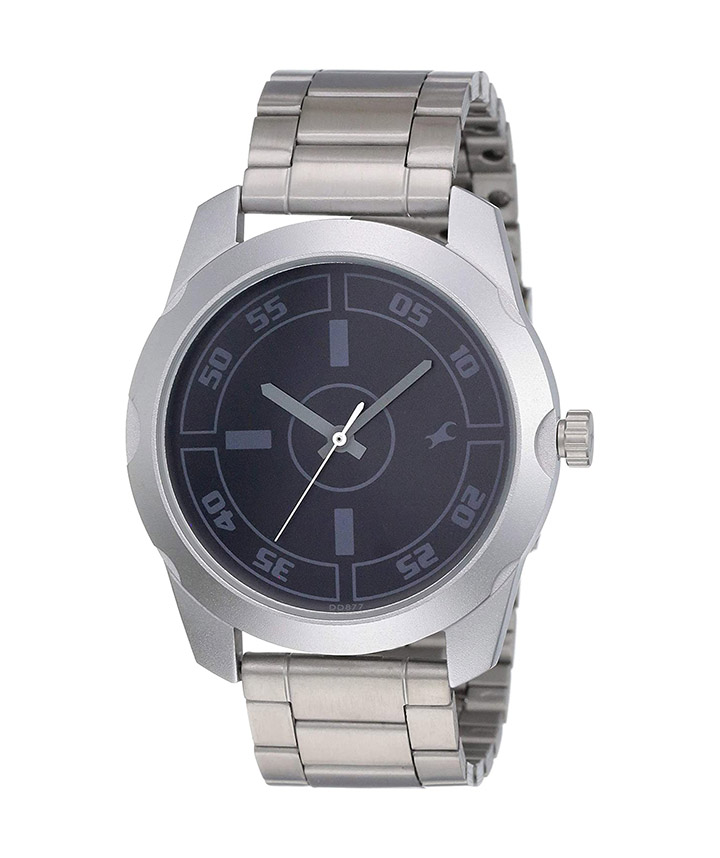 fastrack casual analog black dial men's watch nm3123sm01  nl3123sm01