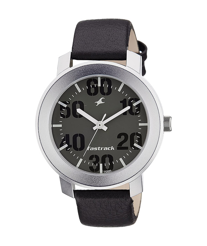 fastrack casual analog grey dial men's watch-nk3121sl02
