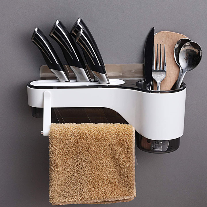 hokipo wall mounted spoon and knife holder