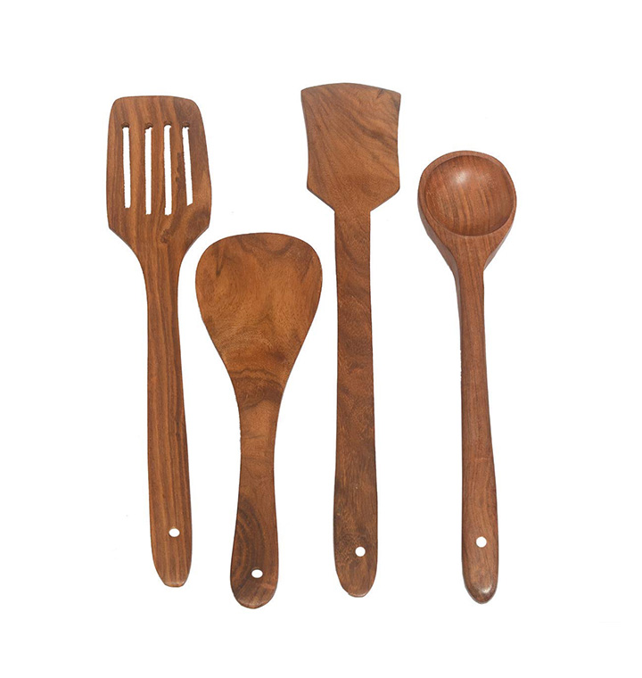 bairathi marble handicraft wooden multipurpose serving and cooking spoon set