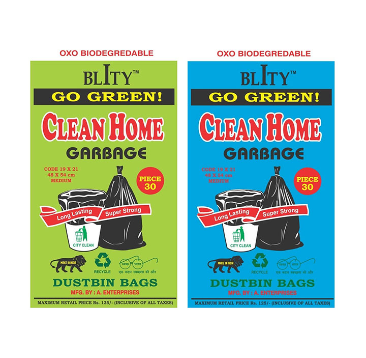 clean home disposable garbage bags