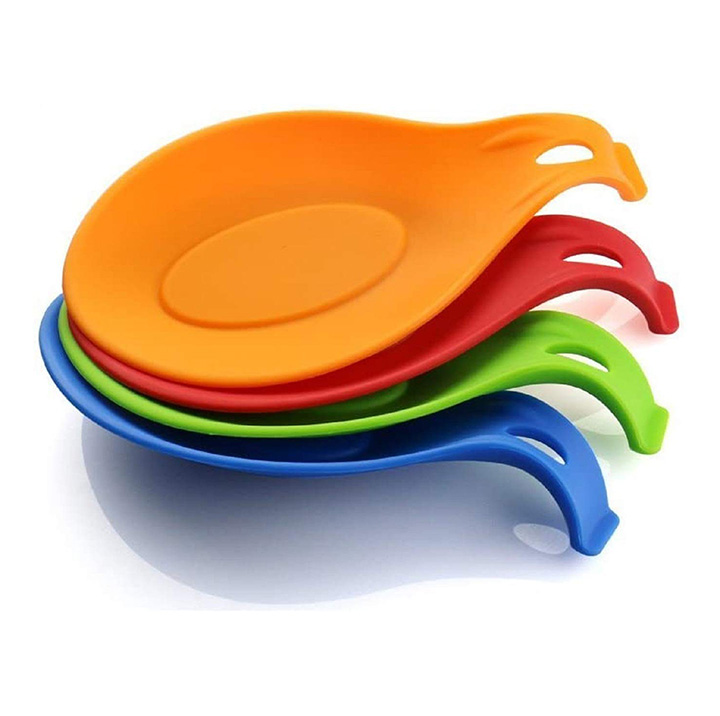 colorful jumbo silicone spoon rest