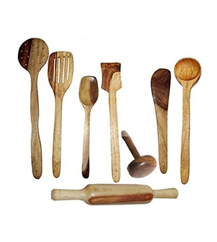 craftatoz multipurpose serving and cooking spoon set