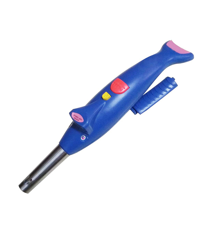 max dolphin electronic gas lighter with led torch