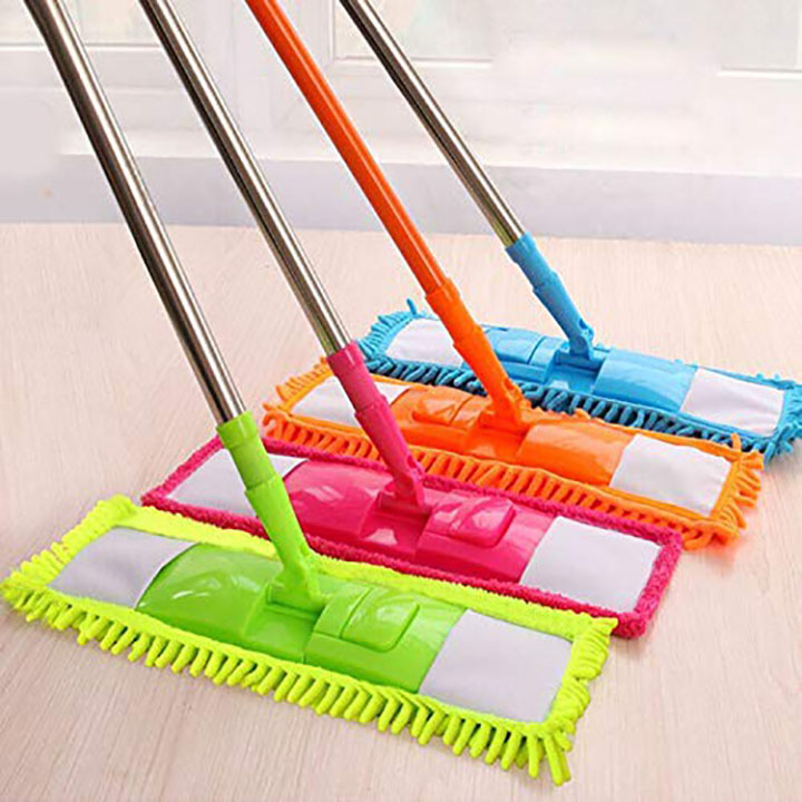 jakin wet and dry cleaning flat microfiber floor cleaning mop