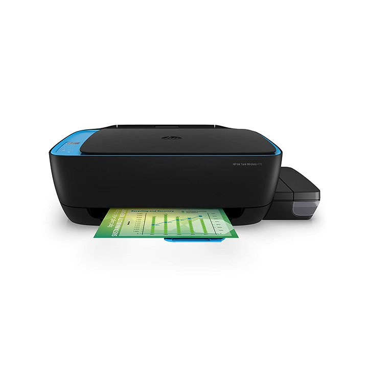 hp 419 all-in-one wireless ink tank color printer with voice-activated printing
