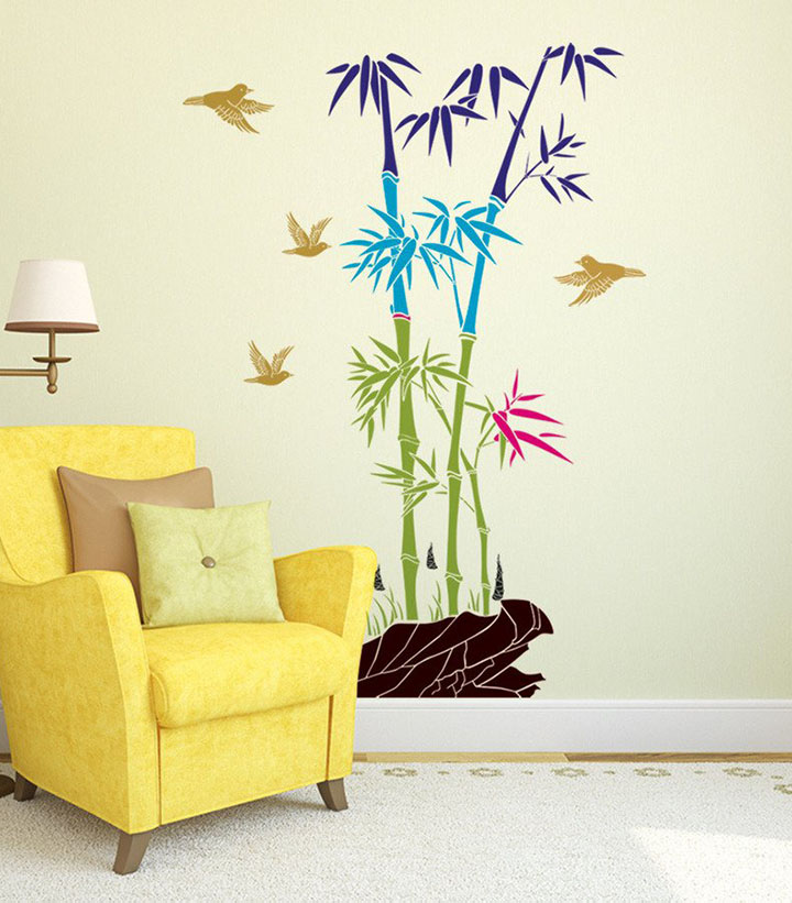 decals design 5700049 stickerskart wall stickers bamboo trees colorful