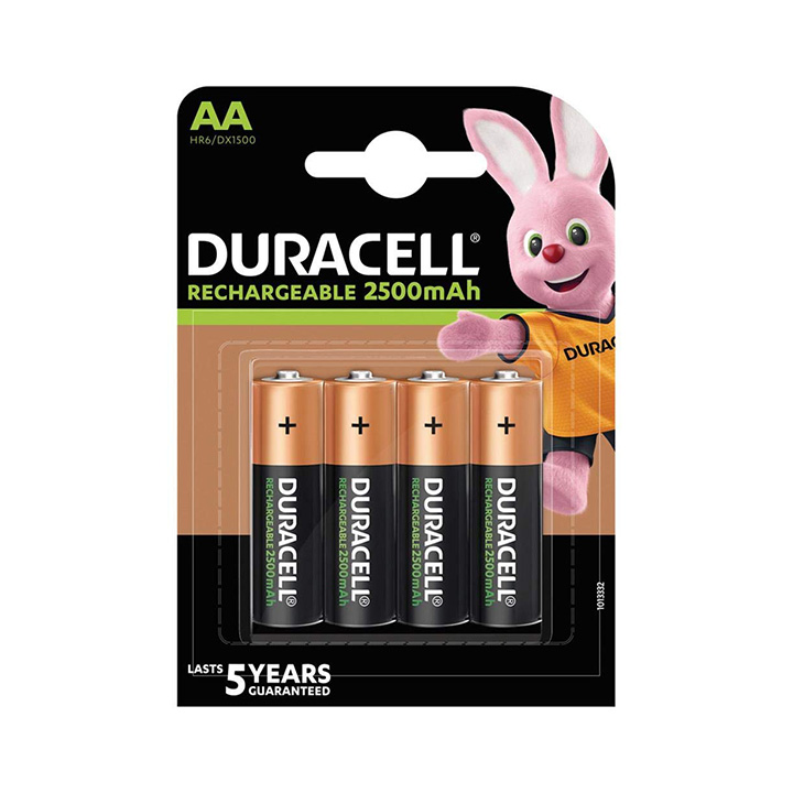 duracell rechargeable aa batteries 2500mah