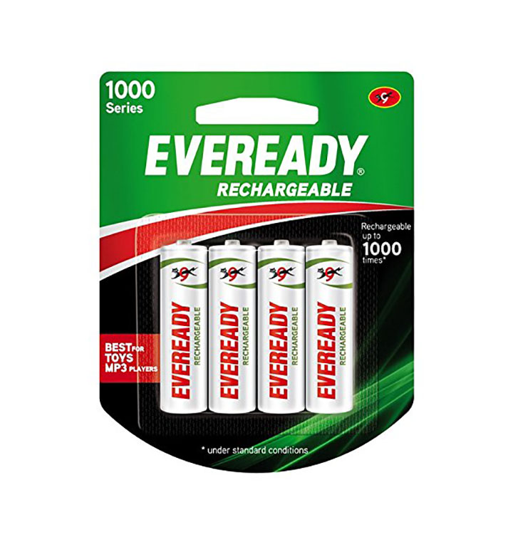 eveready rechargeable aa battery