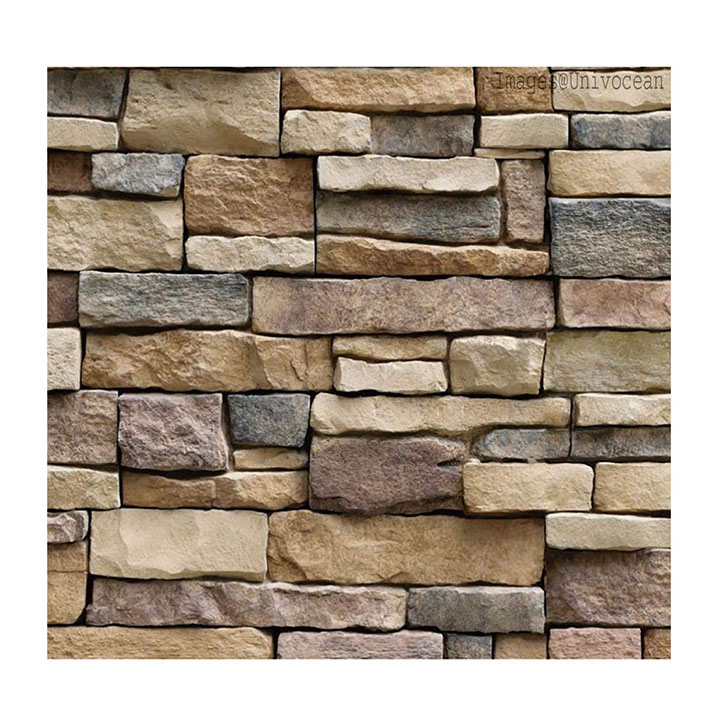 univocean 3d modern stone style rustic effect wall poster, wallpaper, wall sticker, pvc adhesive home decoration stickers