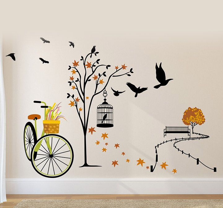 Amazon Brand - Solimo Wall Sticker for Living Room