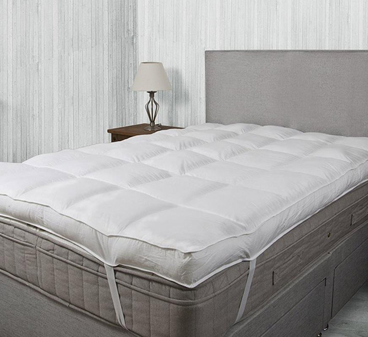 Linenovation Queen Size Bed Finest Imported Microfiber Mattress Padding/Topper