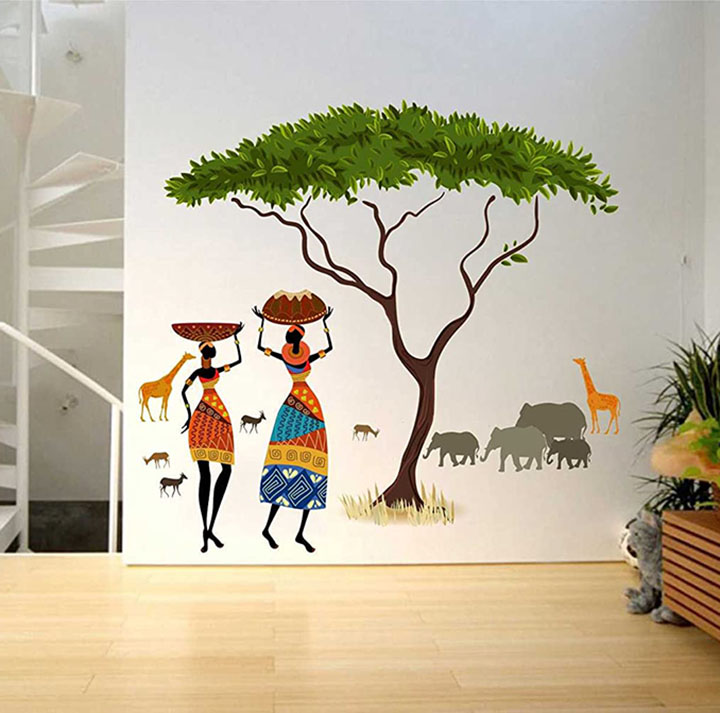 Rawpockets 'African Jungle Story' Wall Sticker