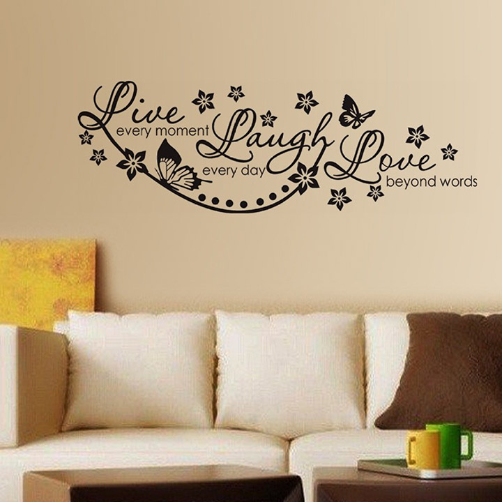 decals design 'live laugh and love family' wall stickers