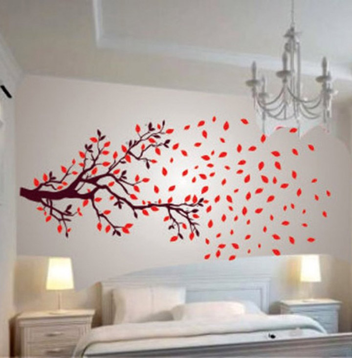 decals design lovely autumn tree wall stickers