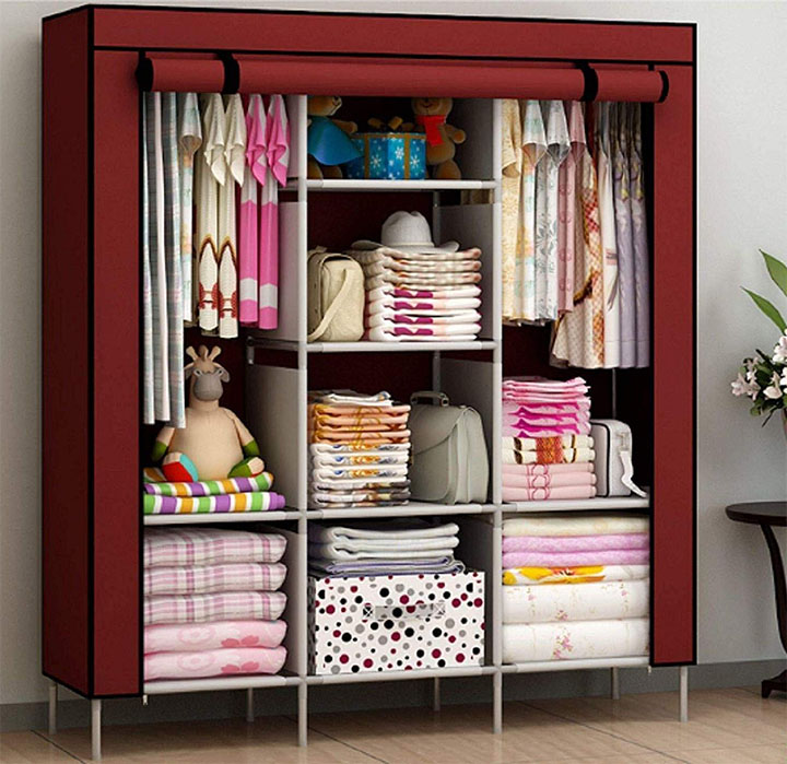maison & cuisine 6+2 layer fancy and portable foldable collapsible closetcabinet