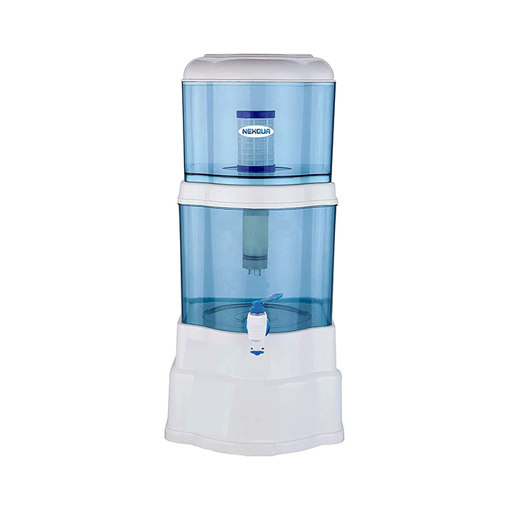 nexqua dew non-electric ultra filtration (uf) based gravity water filter and purifier