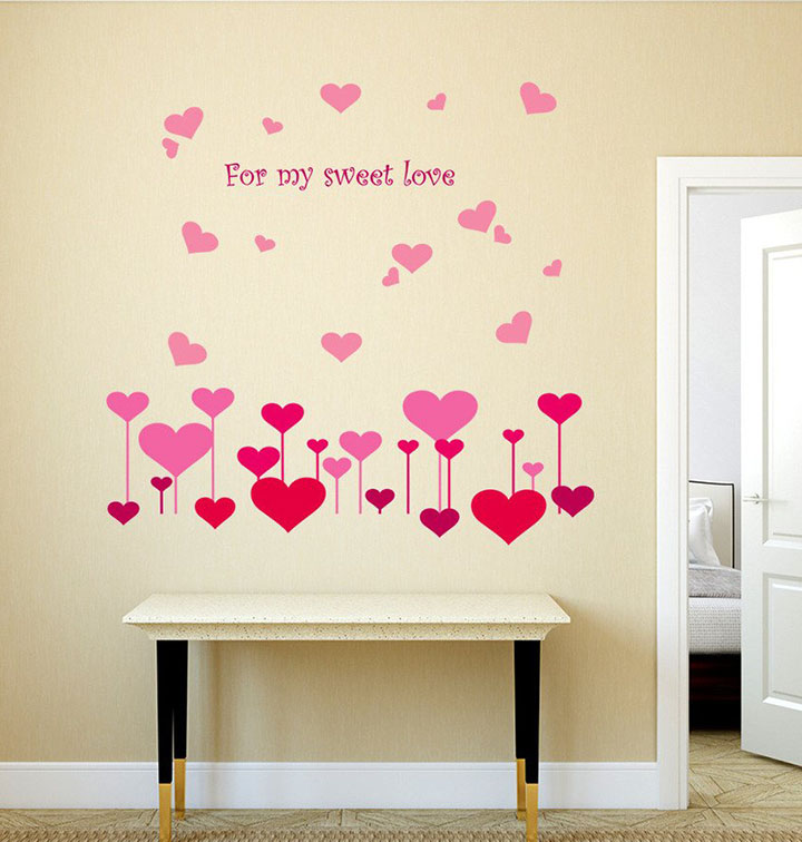 Decals Design 'Hearts for My Sweet Love' Wall Sticker