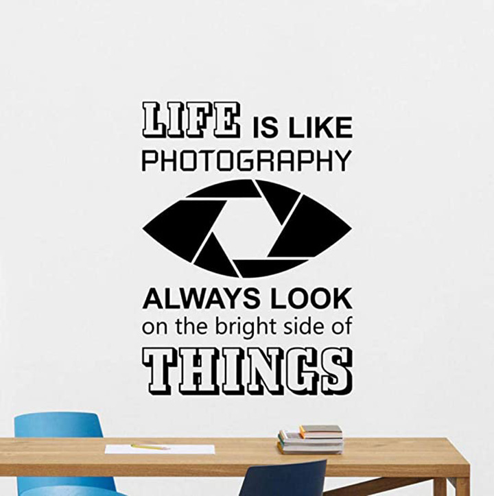 Gadgets Wrap Home Decoration Accessories Life is Like Photography Wall Decal
