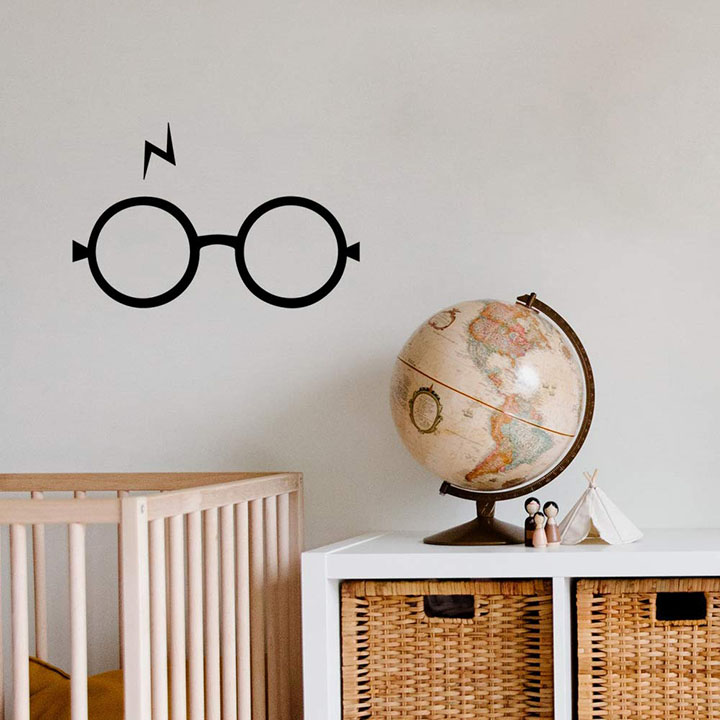 Gadgets Wrap Wall Decals 29CM Wall Stickers Black Color - (Wizard Hat Harry Potter)