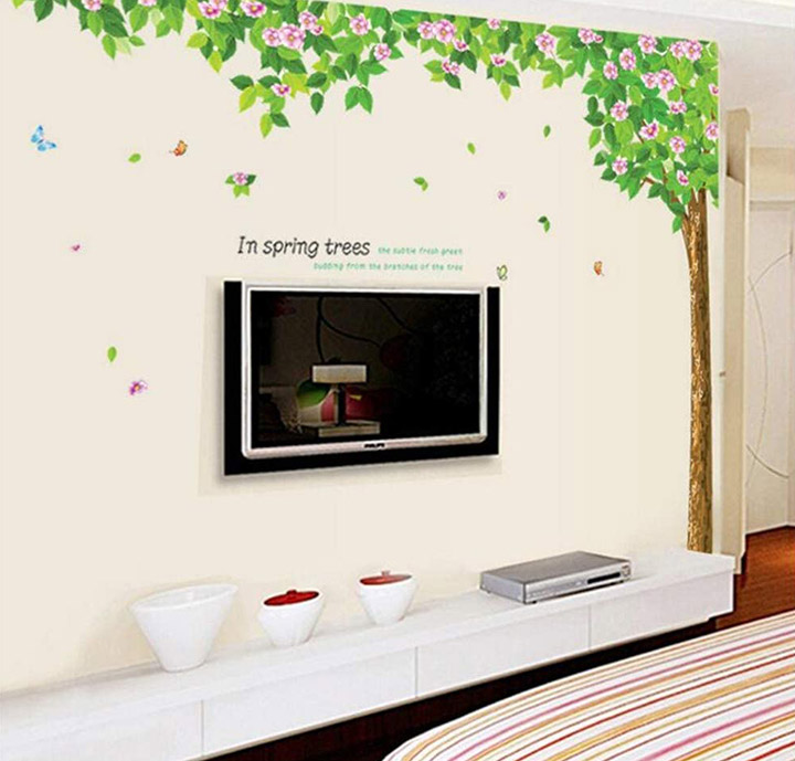 natural tree wall sticker wall decals