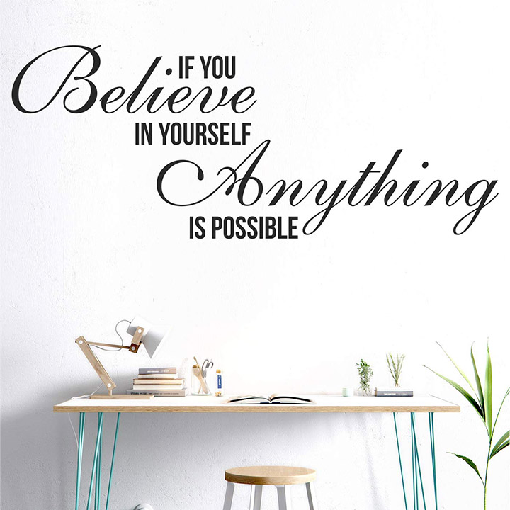 StickMe 'Anything is Possible - Office - Inspirational - Motivational - Quotes - Wall Sticker
