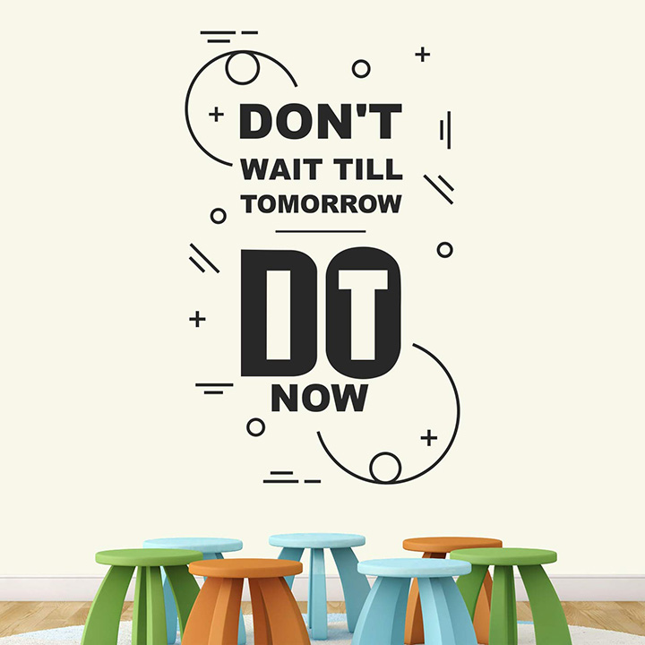 StickMe Paper Do It Now Motivational Quotes Wall Sticker
