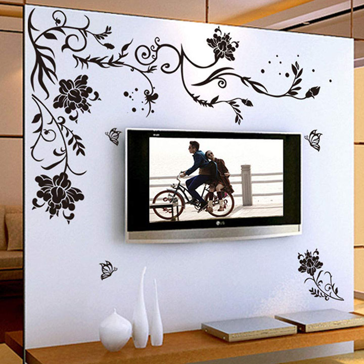 wall stickers led tv background