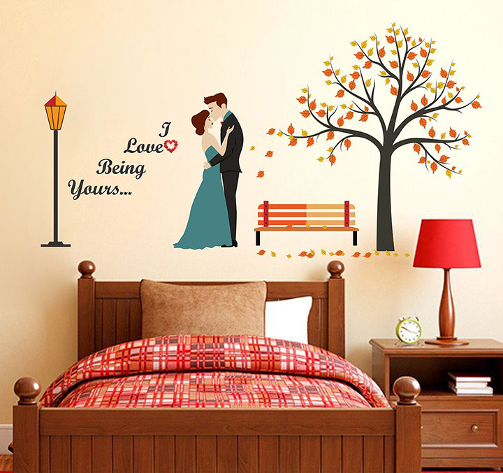 Wallstick 'I Love Being Yours' Wall Sticker