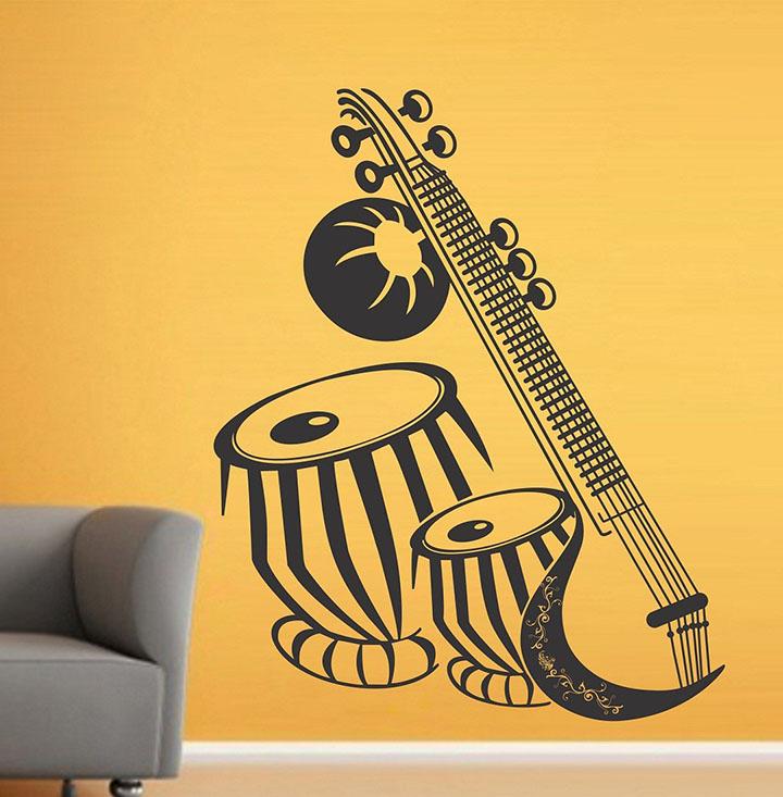 wallstick 'musical instruments' wall sticker