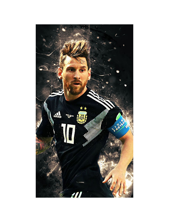 furnish marts messi 10 large jumbo poster with vinyl wall sticker