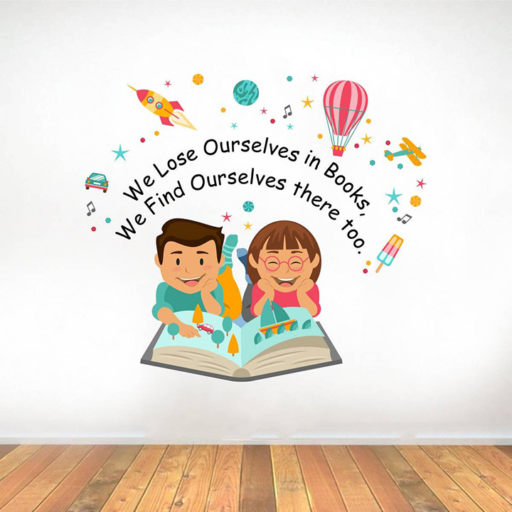 lose ourselves books quotes' wall sticker