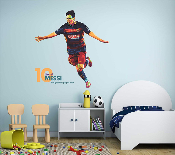 messi football player wallstickers