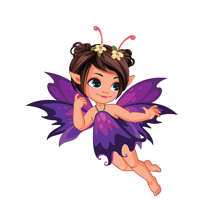 violet fairy wall stickers