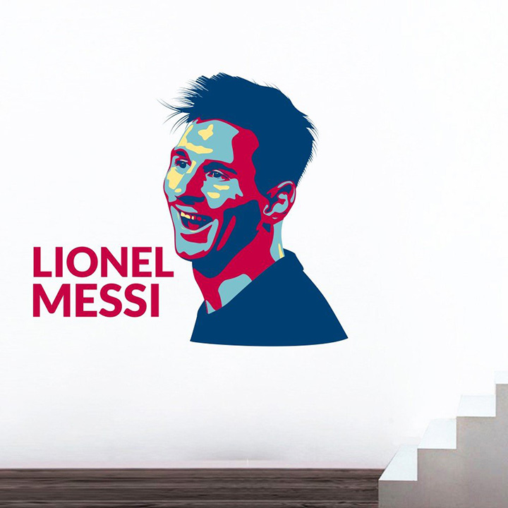 wall sticker of lionel messi