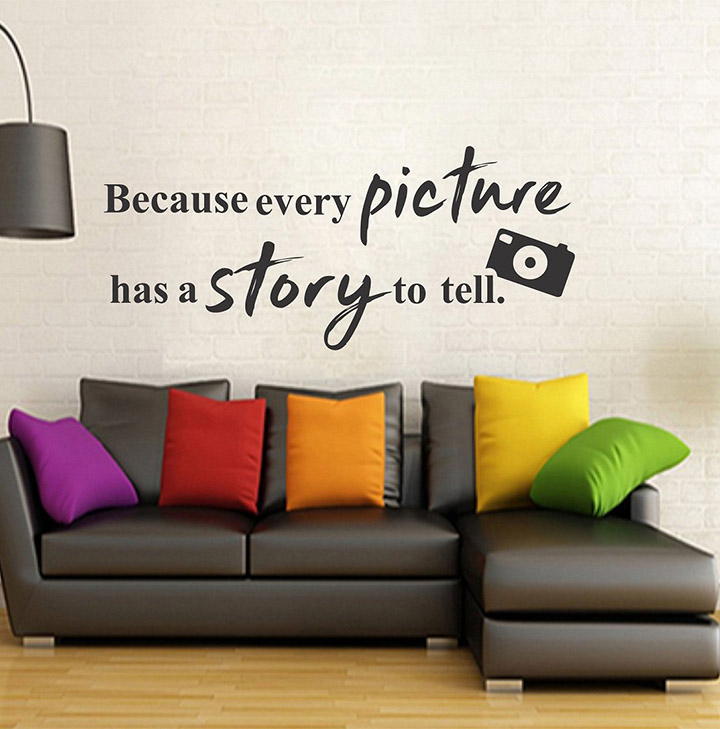 wallstick 'picture quotes camera' wall sticker