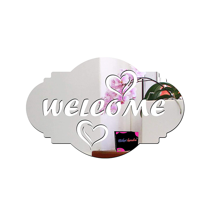 3d acrylic welcome wall sticker