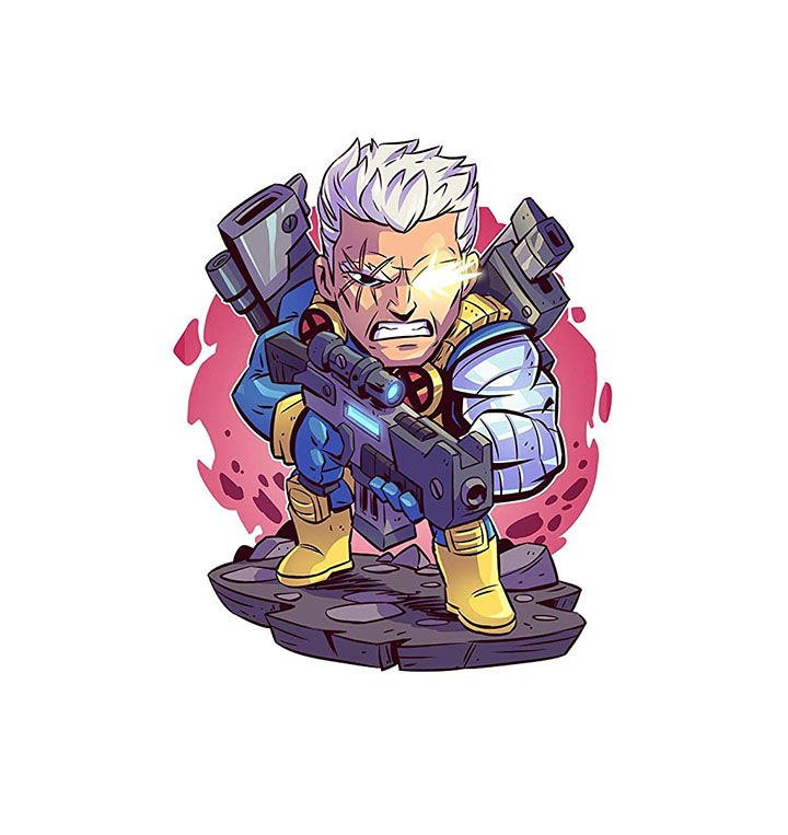 all-good cable marvel superhero wall sticker