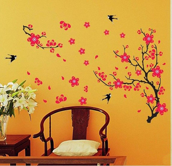 Branch with Flowers' Wall Sticker