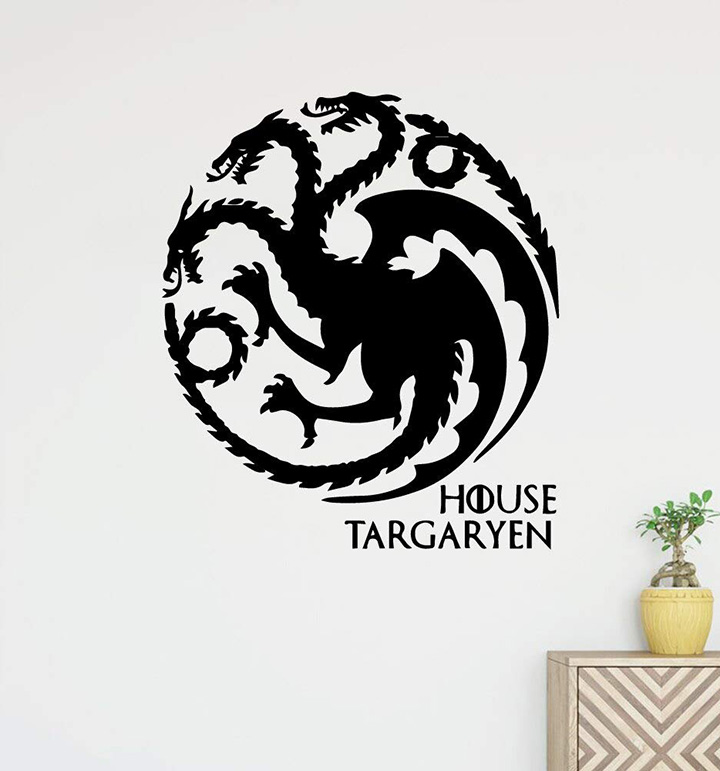 classical game of thrones wall stickers