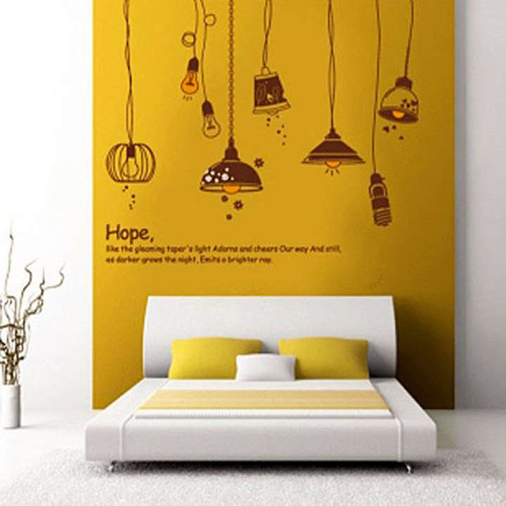 'Crazy Lamps' Wall Sticker