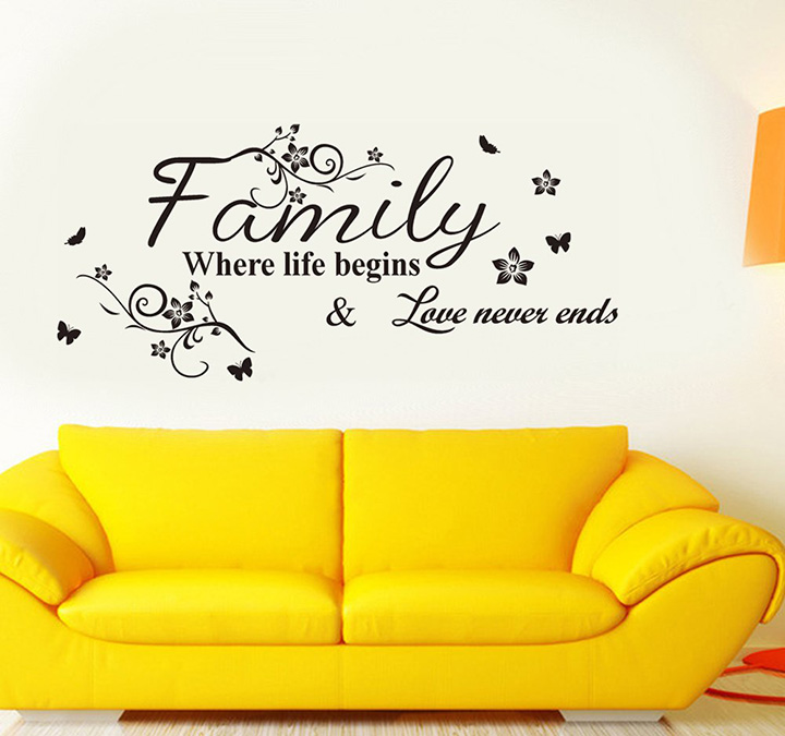 Decals Design 'Family Where Life Begins' Wall Sticker