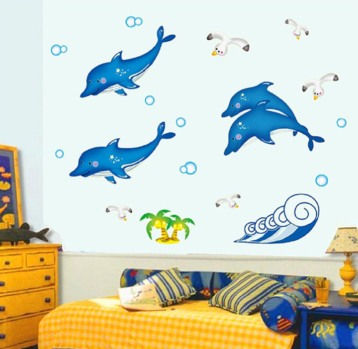 Glowing Dolphin wall Stickers for kids room
