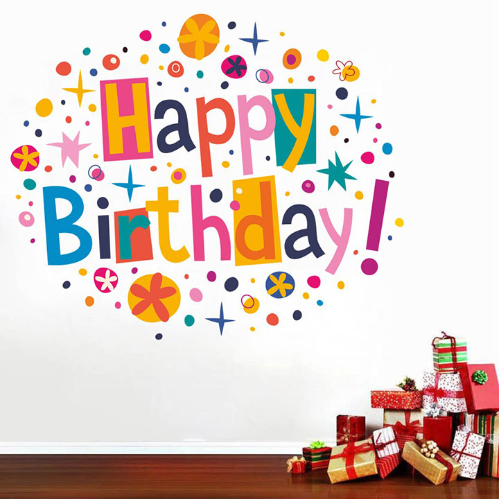 Grand Birthday party Wall Stickers