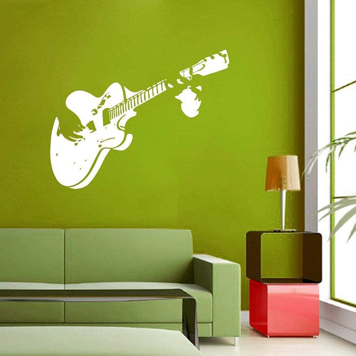 guitar music self adhesive wall stickers