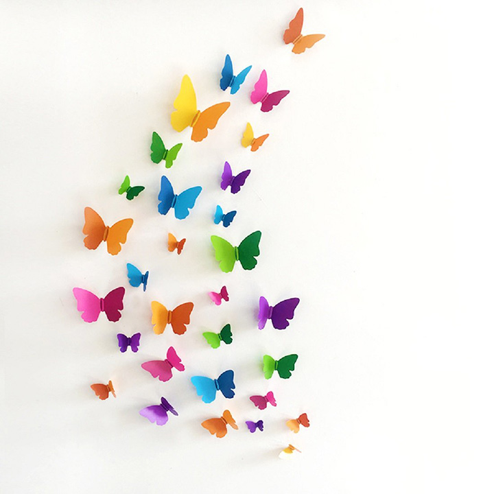 jaamso royals 'multi color 3d butterflies' wall sticker