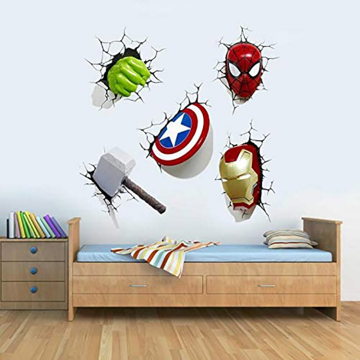 marvel avengers weapons wall sticker